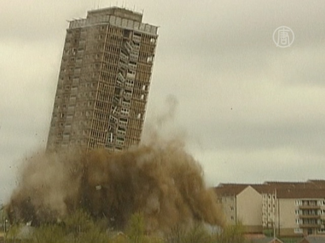 В Шотландии снесли 30-этажный дом