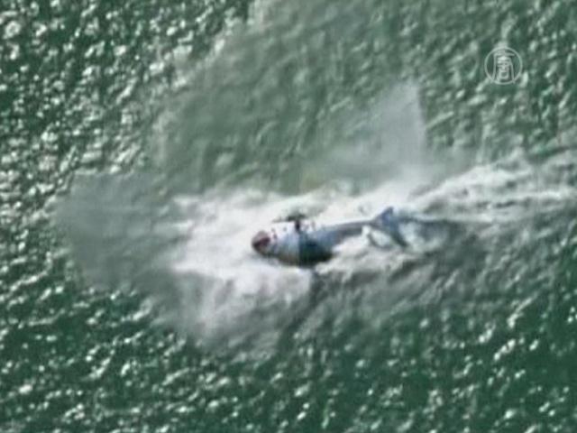 Вертолёт упал на воду в Новой Зеландии