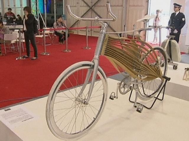 На выставке в Шанхае показали бамбуковый велосипед
