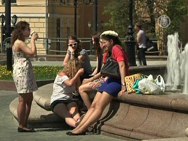 В Москву пришла жара