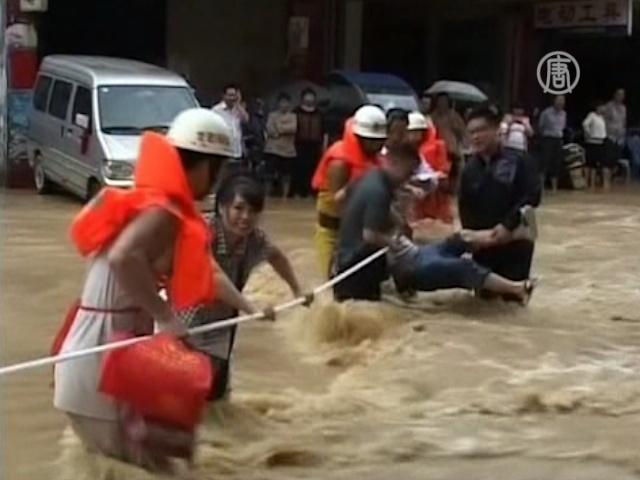 Наводнение в Китае: 55 погибших