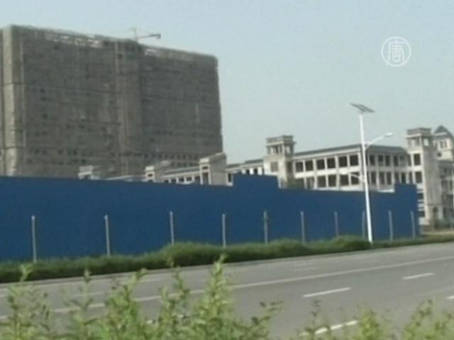В Китае ласточки оккупировали стройплощадку