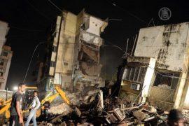 В Индии обрушилась жилая пятиэтажка