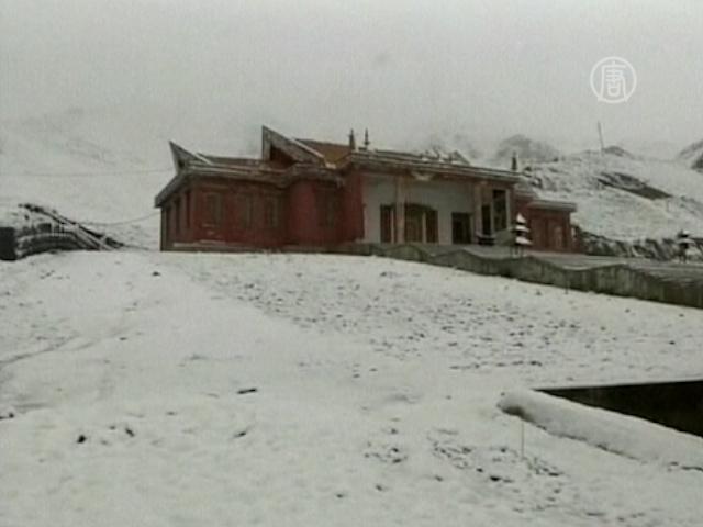 В Китае неожиданно выпал снег