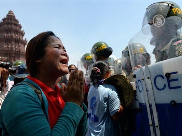 Женщины выступили против насильственного выселения