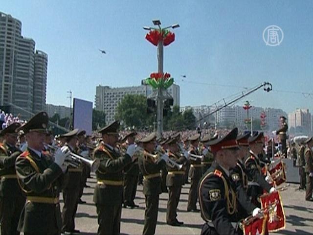 В Минске прошёл непопулярный парад