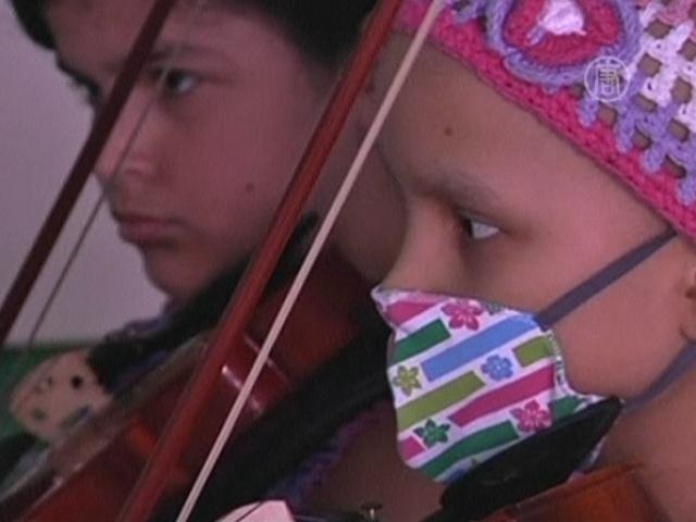Больных раком детей отвлекают музыкой