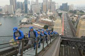 2100 китайцев группой поднялись на Харбор-Бридж