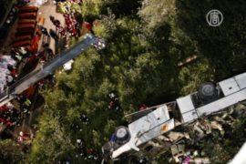 Автобус с паломниками упал с обрыва в Италии