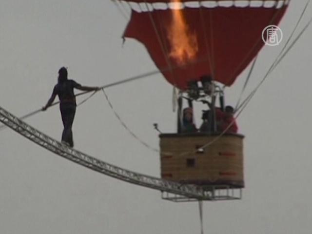 Уйгурский канатоходец побил рекорд Гиннесса