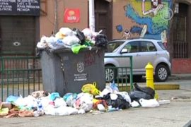Столица Чили обрастает мусором