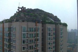 Пекинец самовольно построил виллу на крыше высотки