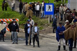 Колумбийские фермеры блокируют дороги