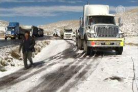 Тысячи перуанцев оказались в снежной ловушке