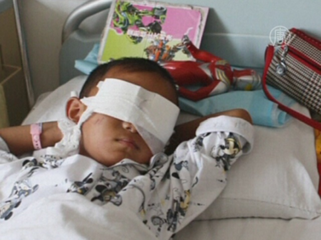 Китай: неизвестные вырезали у ребенка глаза