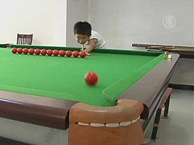 3-летний гений бильярда хочет быть чемпионом