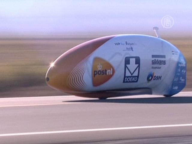 Новый рекорд: на велосипеде со скоростью 134 км/ч
