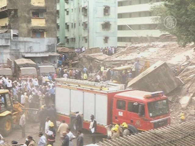 В Мумбаи обрушилась жилая пятиэтажка