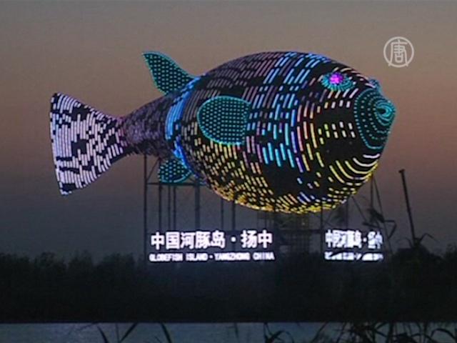 Медная башня-рыба вызвала шквал негодования в КНР