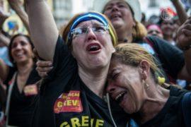 Протесты учителей в Рио закончились погромом