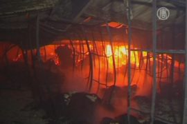 Пожар на швейной фабрике в Бангладеш, есть жертвы