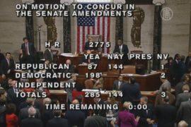 США: дефолта не будет, временный бюджет принят