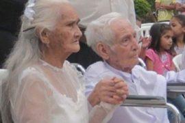 Свадьба в Парагвае: невесте – 99 лет, жениху – 103