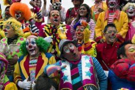 Клоуны съехались в Мехико «объединить границы»