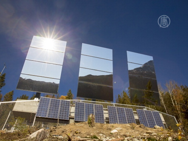 Огромные зеркала спасут от мрака норвежский город