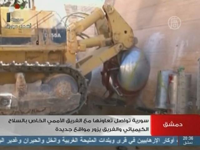 Сирия успела уничтожить оборудование для химоружия