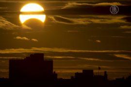 Мир накрыло уникальное солнечное затмение