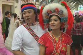 86 пар поженились одновременно на Тайване