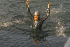 Экстремал проплыл вдоль побережья Британии