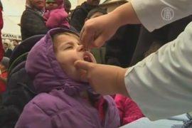 Турция массово прививает детей от полиомиелита