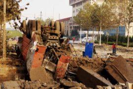 Взрыв нефтепровода в Циндао: 55 погибших