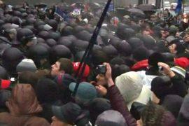 В Украине продолжаются митинги за евроинтеграцию