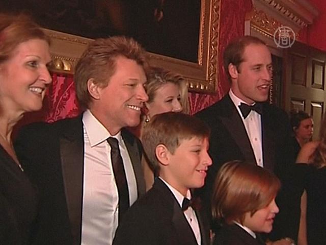 Бон Джови поужинал с принцем ради помощи бедным
