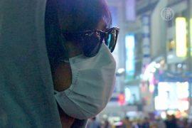 Аноним развешивает в Токио наклейки против АЭС