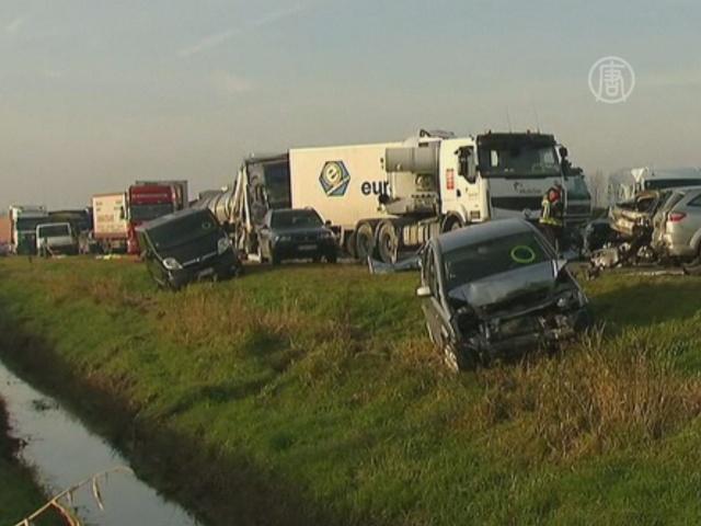 ДТП в Бельгии: столкнулись 132 автомобиля