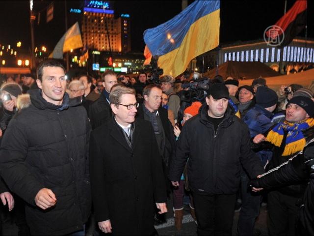 Глава МИД Германии посетил Майдан в Киеве