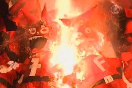 Перед Рождеством в Гватемале сжигают дьявола