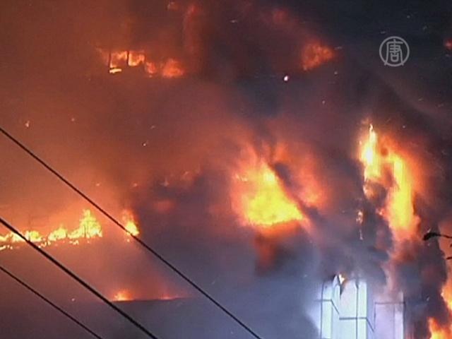 В Китае сгорел небоскрёб