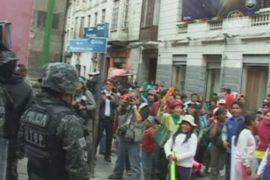 В Боливии протестующие дети подрались с полицией