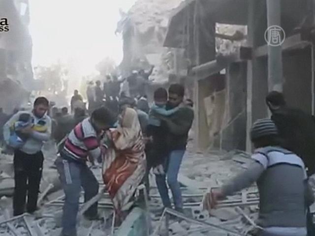 Активисты показали видео разрушенного Алеппо