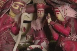 Мексика встречает Рождество с фигурками из редиса