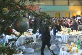 Бедных греков накормили в Рождество