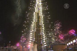 Ошеломляющий фейерверк устроили в Дубае