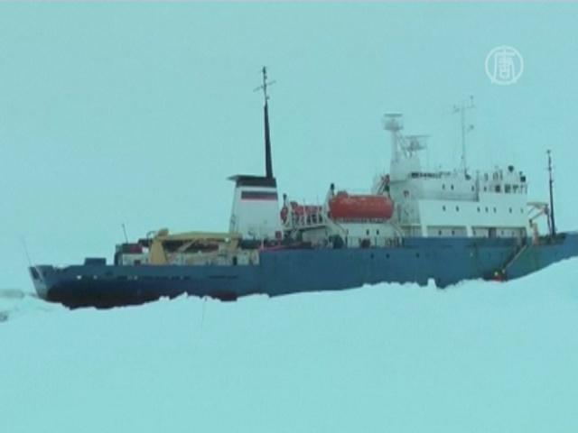 Антарктика: застрявшие суда всё ещё не вызволили