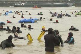 На Рейне состоялся зимний заплыв
