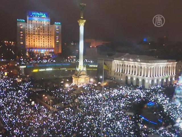 Украинский Евромайдан встретил Новый год